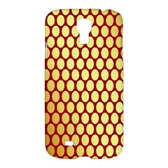 Red And Gold Effect Backing Paper Samsung Galaxy S4 I9500/i9505 Hardshell Case