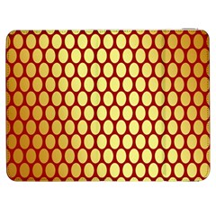 Red And Gold Effect Backing Paper Samsung Galaxy Tab 7  P1000 Flip Case