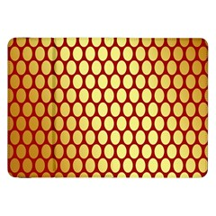 Red And Gold Effect Backing Paper Samsung Galaxy Tab 8 9  P7300 Flip Case