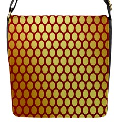 Red And Gold Effect Backing Paper Flap Messenger Bag (s)