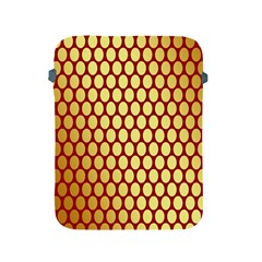 Red And Gold Effect Backing Paper Apple Ipad 2/3/4 Protective Soft Cases
