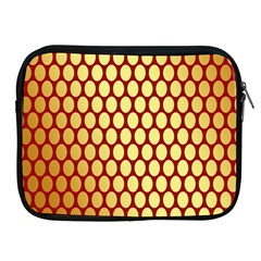 Red And Gold Effect Backing Paper Apple Ipad 2/3/4 Zipper Cases