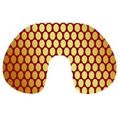 Red And Gold Effect Backing Paper Travel Neck Pillows