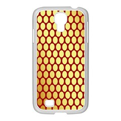 Red And Gold Effect Backing Paper Samsung Galaxy S4 I9500/ I9505 Case (white)