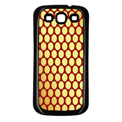 Red And Gold Effect Backing Paper Samsung Galaxy S3 Back Case (black)