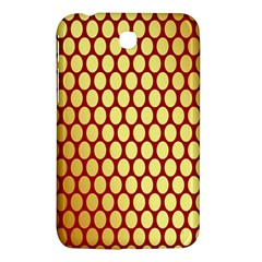 Red And Gold Effect Backing Paper Samsung Galaxy Tab 3 (7 ) P3200 Hardshell Case