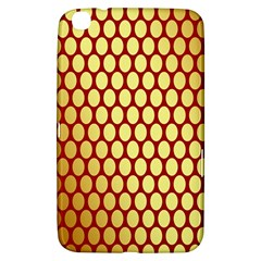Red And Gold Effect Backing Paper Samsung Galaxy Tab 3 (8 ) T3100 Hardshell Case