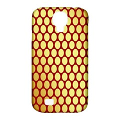 Red And Gold Effect Backing Paper Samsung Galaxy S4 Classic Hardshell Case (PC+Silicone)