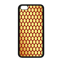 Red And Gold Effect Backing Paper Apple iPhone 5C Seamless Case (Black)