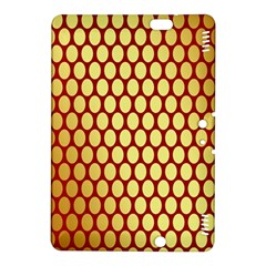 Red And Gold Effect Backing Paper Kindle Fire Hdx 8 9  Hardshell Case