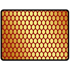 Red And Gold Effect Backing Paper Double Sided Fleece Blanket (large)