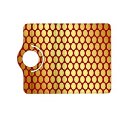 Red And Gold Effect Backing Paper Kindle Fire Hd (2013) Flip 360 Case