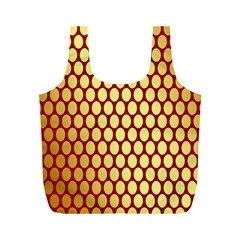 Red And Gold Effect Backing Paper Full Print Recycle Bags (m)