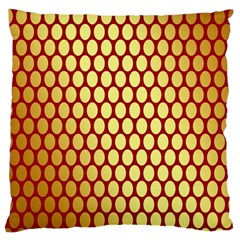 Red And Gold Effect Backing Paper Large Flano Cushion Case (two Sides)