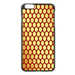 Red And Gold Effect Backing Paper Apple Iphone 6 Plus/6s Plus Black Enamel Case