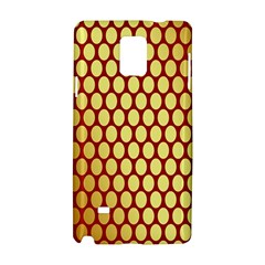 Red And Gold Effect Backing Paper Samsung Galaxy Note 4 Hardshell Case