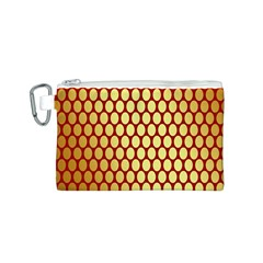 Red And Gold Effect Backing Paper Canvas Cosmetic Bag (s)