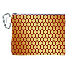 Red And Gold Effect Backing Paper Canvas Cosmetic Bag (XXL)