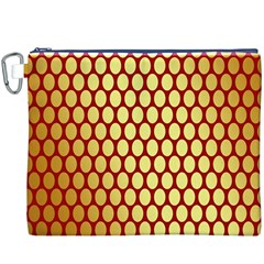 Red And Gold Effect Backing Paper Canvas Cosmetic Bag (xxxl)