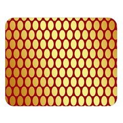 Red And Gold Effect Backing Paper Double Sided Flano Blanket (Large)
