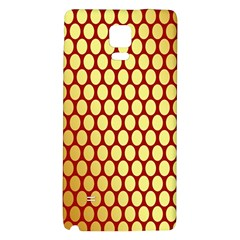 Red And Gold Effect Backing Paper Galaxy Note 4 Back Case