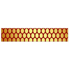 Red And Gold Effect Backing Paper Flano Scarf (small)