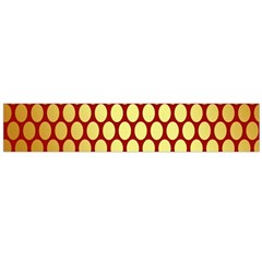 Red And Gold Effect Backing Paper Flano Scarf (Large)