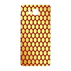Red And Gold Effect Backing Paper Samsung Galaxy Alpha Hardshell Back Case