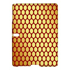 Red And Gold Effect Backing Paper Samsung Galaxy Tab S (10.5 ) Hardshell Case