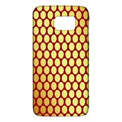 Red And Gold Effect Backing Paper Galaxy S6