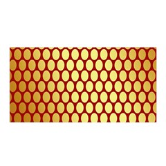 Red And Gold Effect Backing Paper Satin Wrap