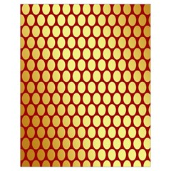 Red And Gold Effect Backing Paper Drawstring Bag (Small)