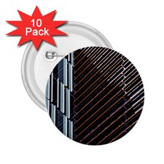Red And Black High Rise Building 2 25  Buttons (10 Pack)
