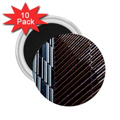 Red And Black High Rise Building 2 25  Magnets (10 Pack)