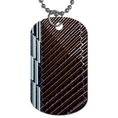 Red And Black High Rise Building Dog Tag (two Sides)
