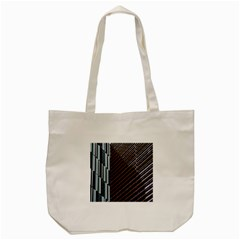 Red And Black High Rise Building Tote Bag (cream)
