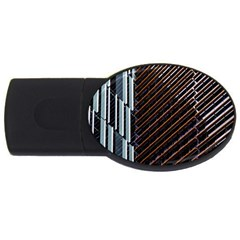 Red And Black High Rise Building USB Flash Drive Oval (4 GB)