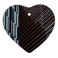 Red And Black High Rise Building Heart Ornament (Two Sides)