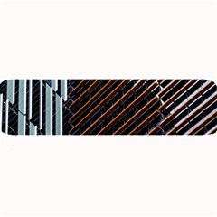 Red And Black High Rise Building Large Bar Mats