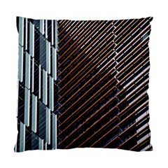 Red And Black High Rise Building Standard Cushion Case (One Side)