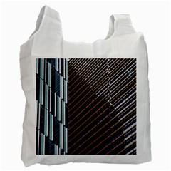 Red And Black High Rise Building Recycle Bag (Two Side)