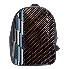 Red And Black High Rise Building School Bags(Large)