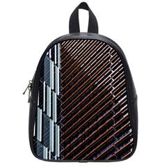 Red And Black High Rise Building School Bags (Small)