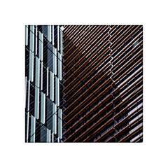 Red And Black High Rise Building Acrylic Tangram Puzzle (4  x 4 )