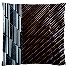 Red And Black High Rise Building Large Cushion Case (one Side)
