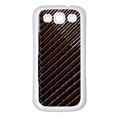 Red And Black High Rise Building Samsung Galaxy S3 Back Case (white)