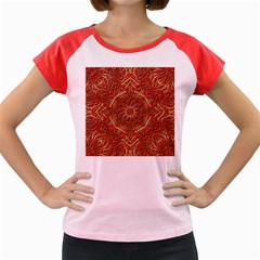 Red Tile Background Image Pattern Women s Cap Sleeve T-Shirt