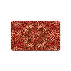 Red Tile Background Image Pattern Magnet (Name Card)