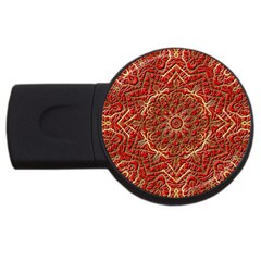 Red Tile Background Image Pattern Usb Flash Drive Round (2 Gb)