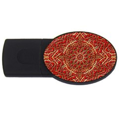Red Tile Background Image Pattern USB Flash Drive Oval (2 GB)